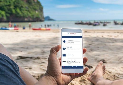 App on the Beach