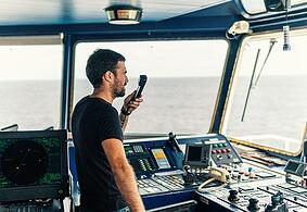 Man Using Radio